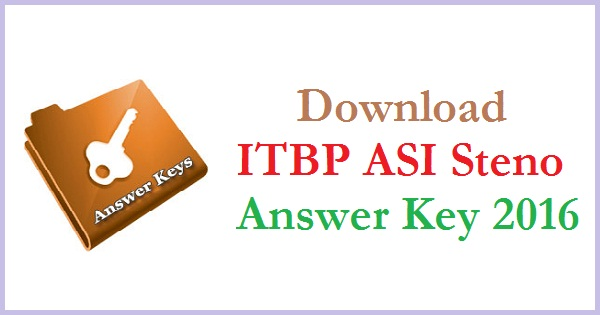 ITBP-ASI-Steno-Answer-Key-2016
