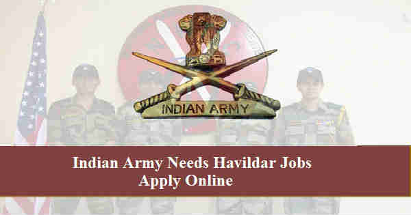 Indian Army Havildar Recruitment 2016