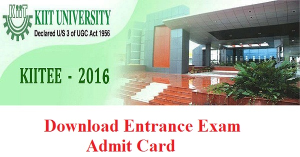 KIITEE Admit Card 2016