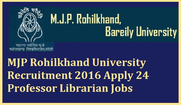 MJP-Rohilkhand-University-Recruitment