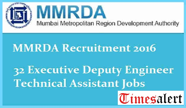 MMRDA Recruitment 2016