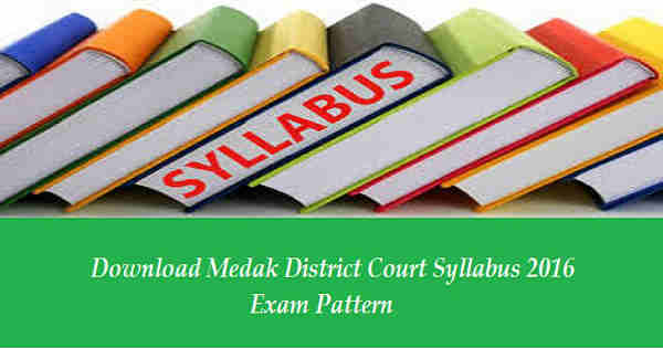 Medak District Court Syllabus 2016
