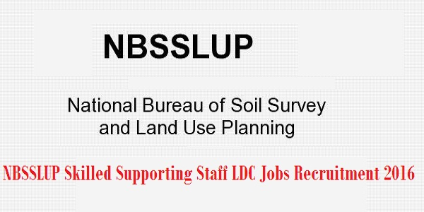 NBSSLUP Recruitment 2016