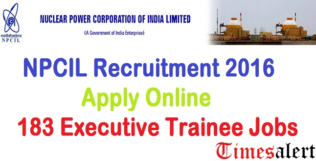 NPCIL Recruitment 2016