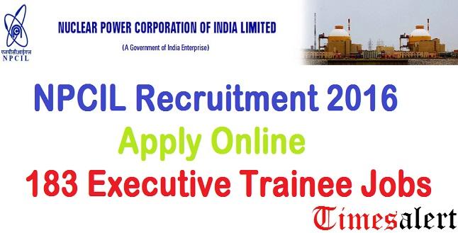 NPCIL Recruitment 2016