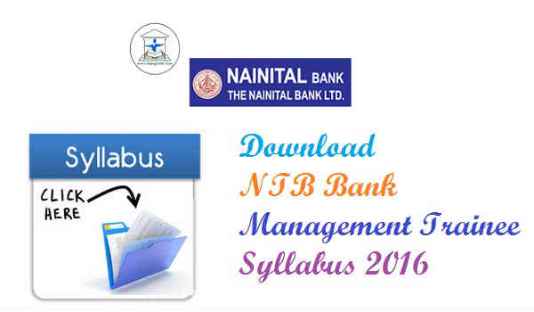 Nainital Bank Syllabus 2016