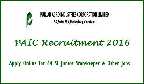 PAIC Recruitment 2016