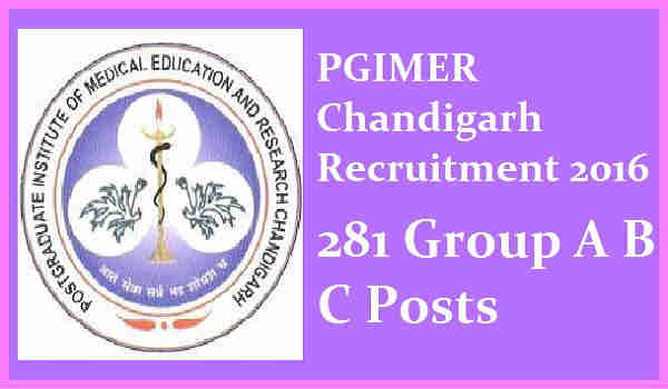 PGIMER-Chandigarh-Recruitment-2016