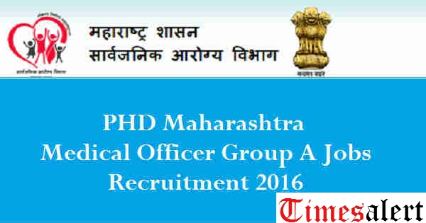 Public Health Department Maharashtra Recruitment 2016