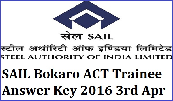 SAIL-ACT-Trainee-Answer-Key-2016