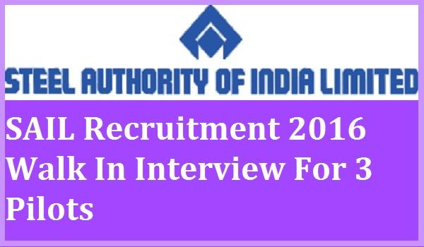 SAIL-Recruitment-2016