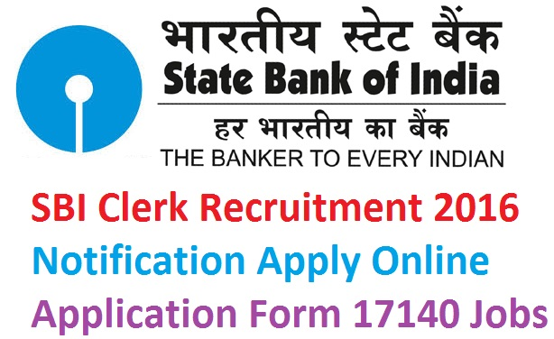SBI Clerk Recruitment 2016
