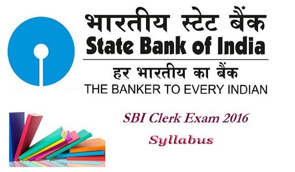 SBI Clerk Syllabus 2016