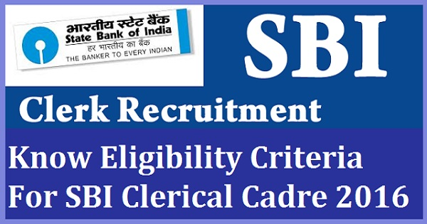 SBI Junior Associate Recruitment 2016