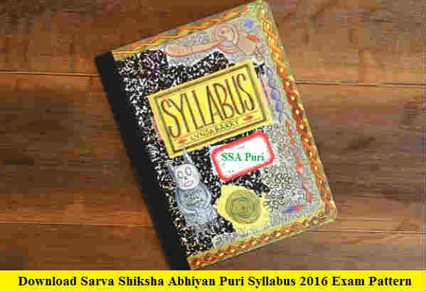 SSA Puri Education Instructor Syllabus 2016