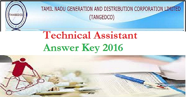TNEB-TANGEDCO-Technical-Assistant-Answer Key-2016