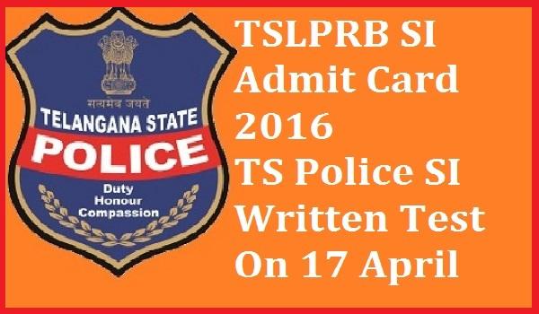 TSLPRB-SI-Admit-Card-2016
