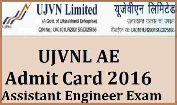UJVNL-AE-Admit-Card-2016