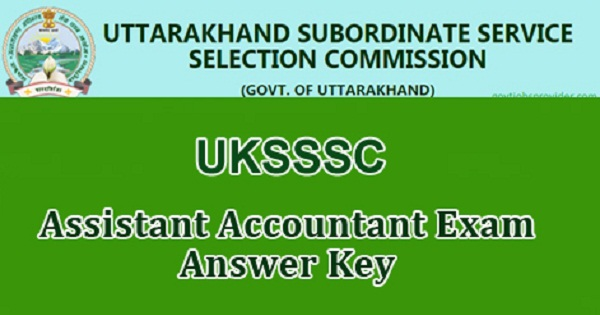 UKPSC Assistant Accountant Answer Key