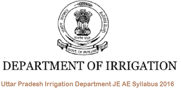 UP Irrigation Junior Engineer Syllabus 2016
