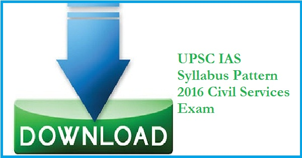 UPSC-Civil-Services-Exam-Syllabus-2016