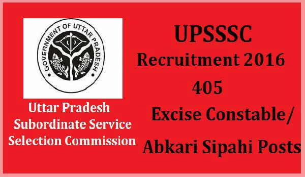 UPSSSC-Excise-Constable-Recruitment-2016