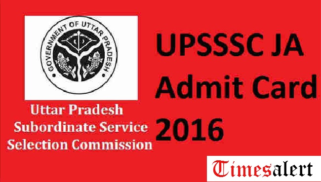 UPSSSC JA Admit Card 2016