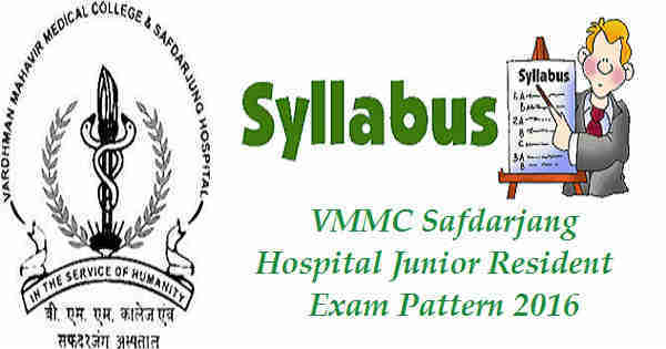 VMMC Junior Resident Syllabus 2016
