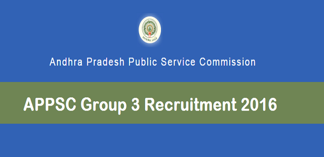 APPSC Group 3 Recruitment 2016