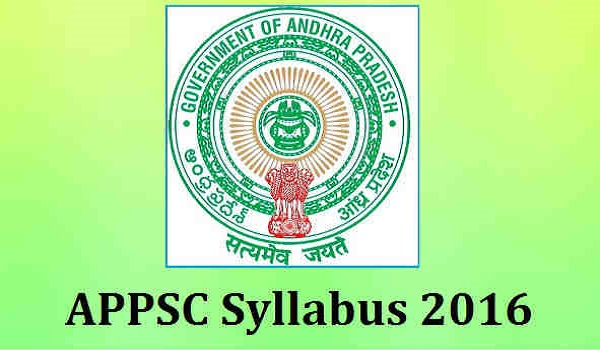 APPSC-Syllabus-2016