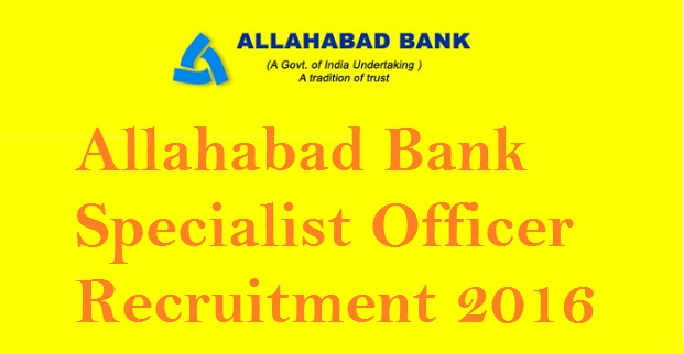 Allahabad Bank Recruitment 2016