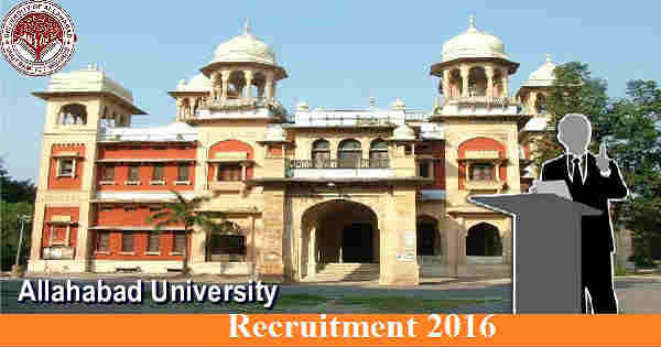 Allahabad University Recruitment 2016