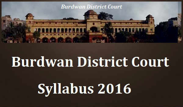 Burdwan-District-Court-Syllabus-2016
