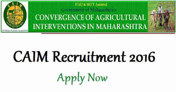 CAIM Recruitment 2016