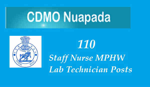 CDMO Nuapada Recruitment 2016