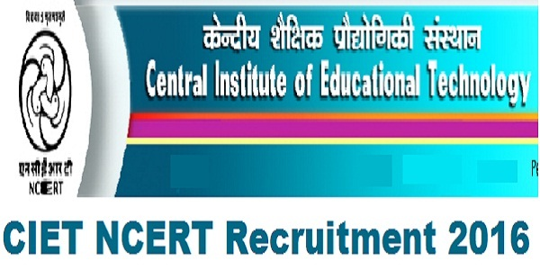 CIET-NCERT-Recruitment-2016