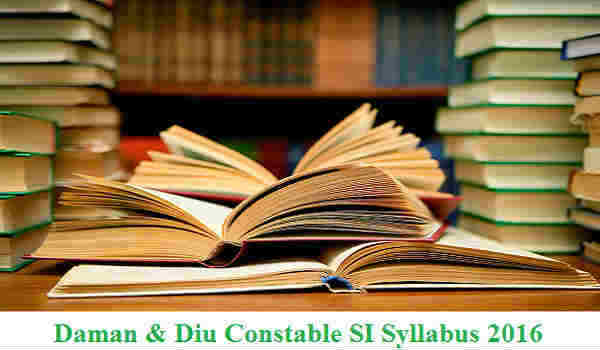 Daman Diu Constable Syllabus 2016