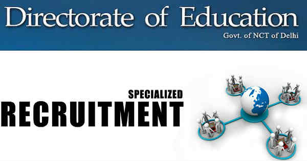 Directorate of Education Delhi Recruitment 2016