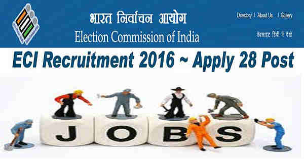 ECI Engineer Recruitment 2016