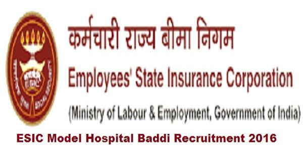 ESIC-Model-Hospital-Baddi-Recruitment-2016