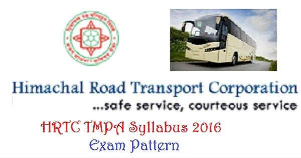 HRTC TMPA Syllabus 2016