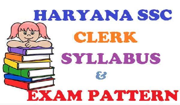 HSSC Clerk Syllabus 2016