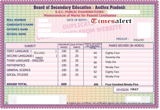Board Of Secondary Education Andhra Pradesh Ssc Memo How To Download Lost 41th SSC Original Certificate Memorandum 9