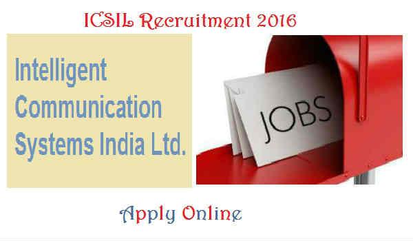 ICSIL Recruitment 2016