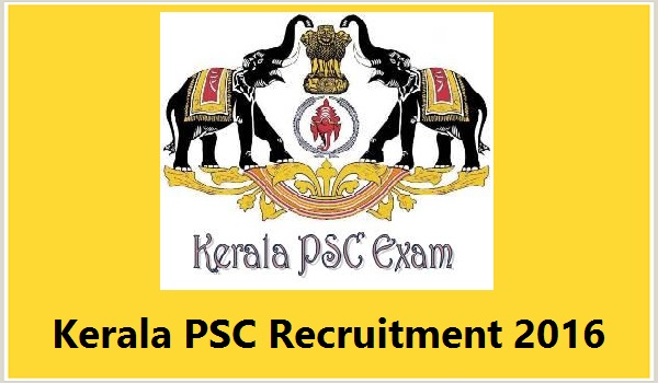 Kerala-PSC-Recruitment-2016