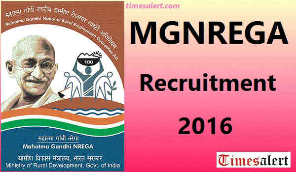 MGNREGA Recruitment 2016