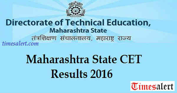 MHT CET Results 2016