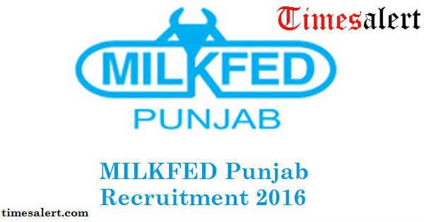 MILKFED Punjab Recruitment 2016