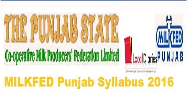 MILKFED-Punjab-Syllabus-2016