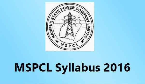 MSPCL-Syllabus-2016